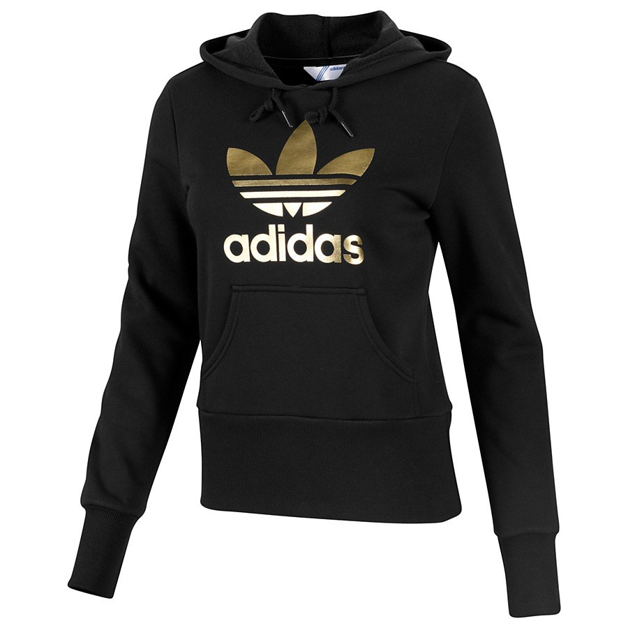 adidas originals trefoil hoodie pullover sweatshirt women. Black Bedroom Furniture Sets. Home Design Ideas