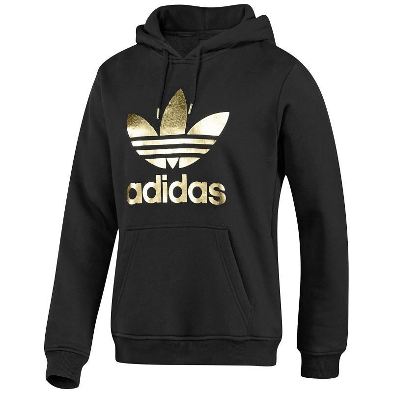 adidas trefoil hoodie schwarz gold l herren. Black Bedroom Furniture Sets. Home Design Ideas