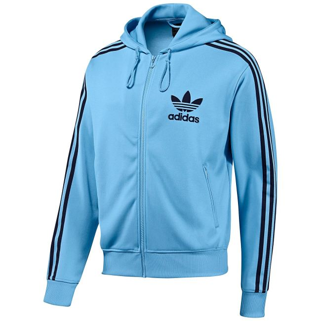 Adidas Hooded Flock TT Jacke Columbia