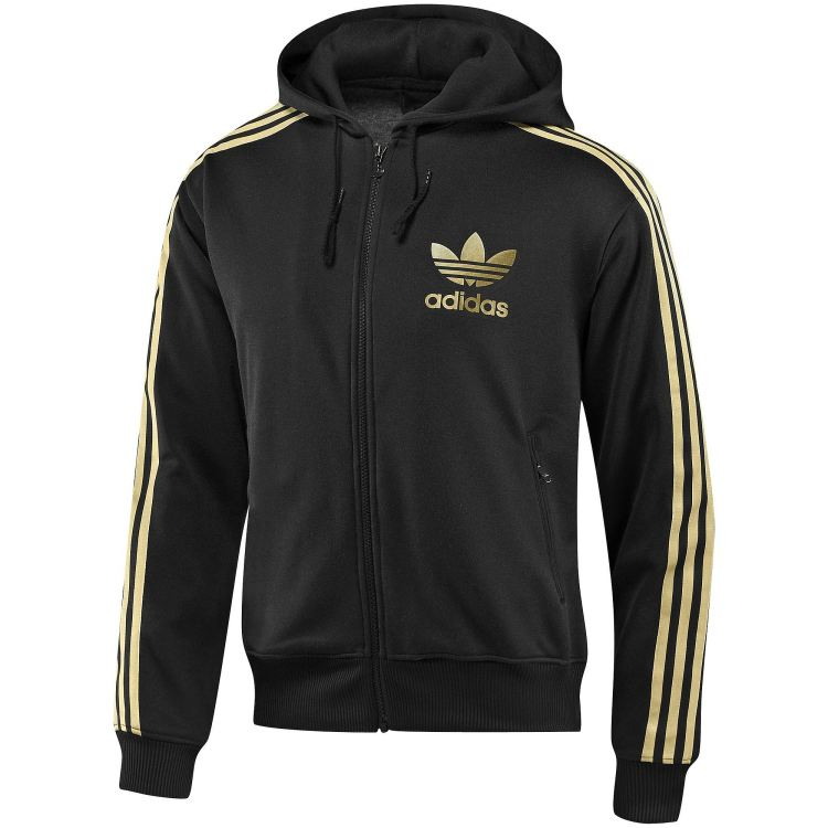 adidas originals hooded flock track top jacke kapuzenjacke sweatjacke herren ebay. Black Bedroom Furniture Sets. Home Design Ideas