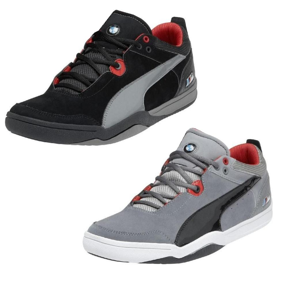 puma preciso low bmw m schuhe sneaker wildleder grau. Black Bedroom Furniture Sets. Home Design Ideas