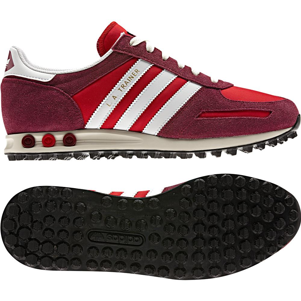adidas originals l a trainer rot damen herren schuhe turnschuhe sneaker ebay. Black Bedroom Furniture Sets. Home Design Ideas