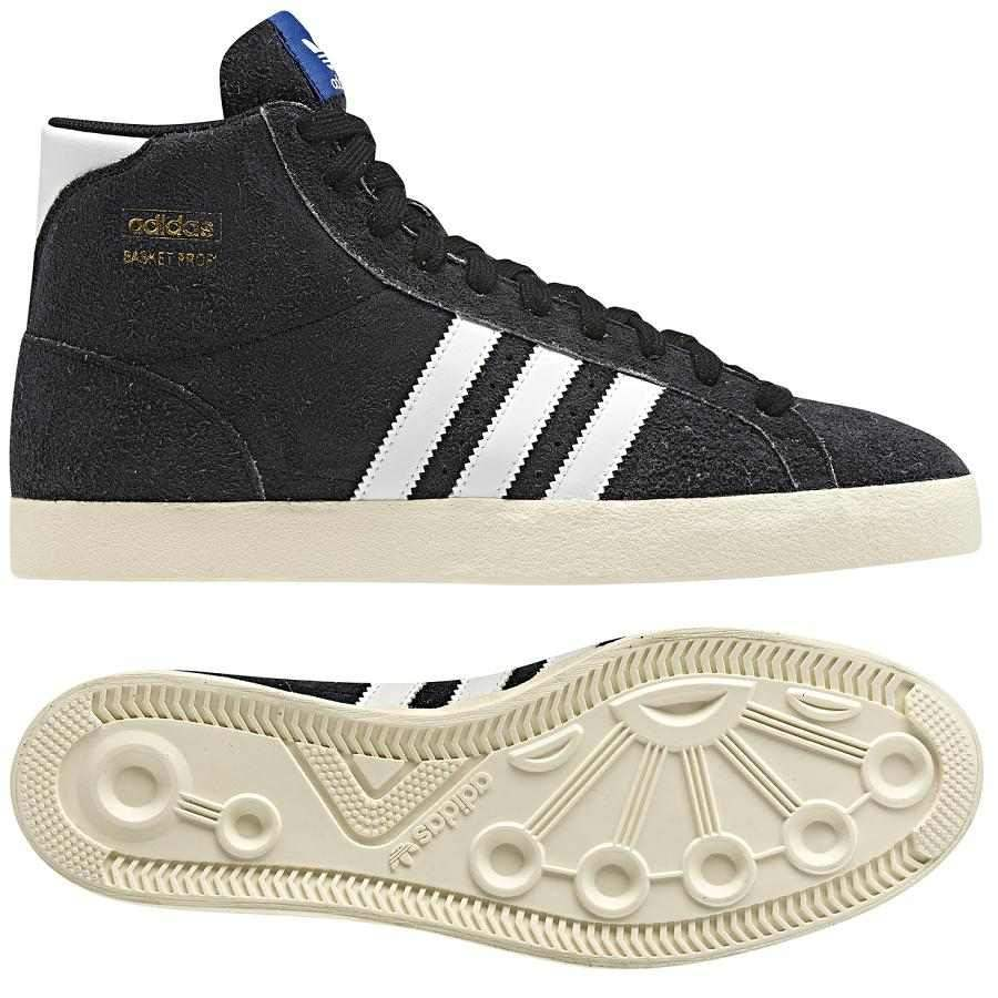 adidas originals basket profi schuhe high top sneaker damen herren grau schwarz. Black Bedroom Furniture Sets. Home Design Ideas
