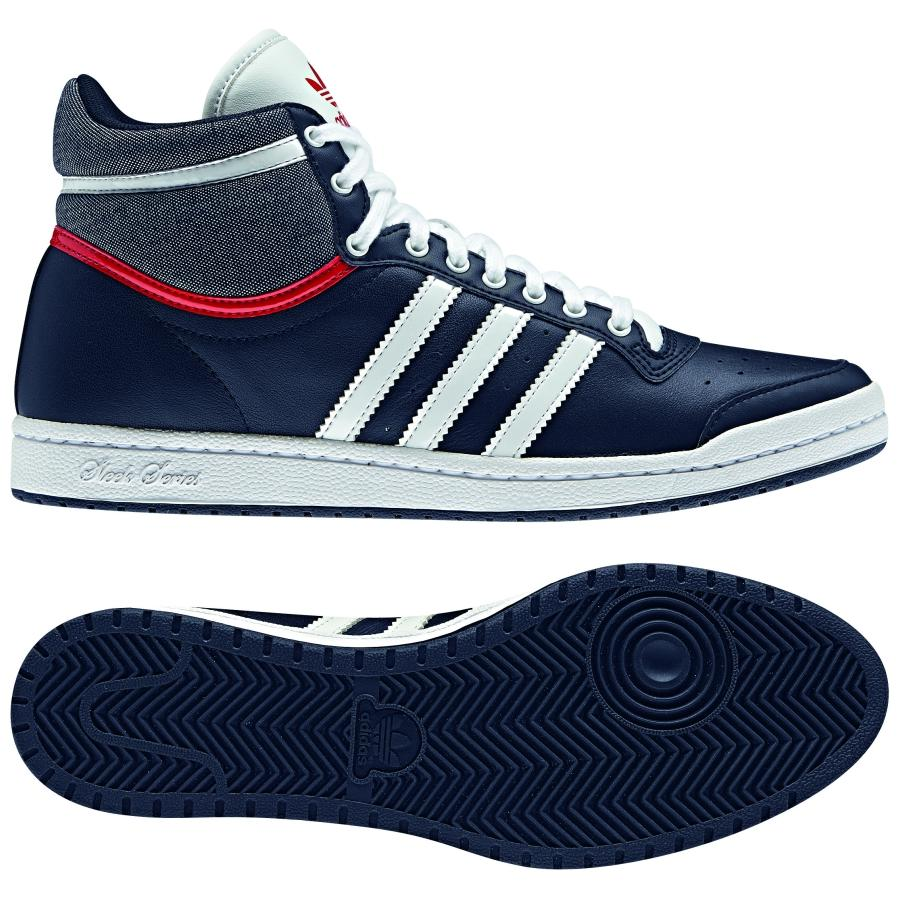 adidas originals top ten hi sleek shoes trainers womens blue ebay. Black Bedroom Furniture Sets. Home Design Ideas