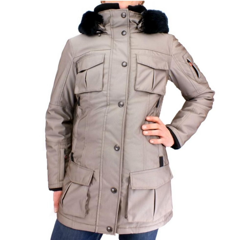 wellensteyn schneezauber damen jacke winterjacke wintermantel grau ebay. Black Bedroom Furniture Sets. Home Design Ideas