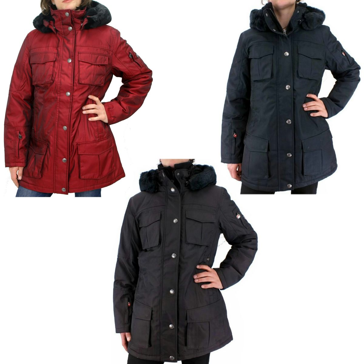 wellensteyn schneezauber damen winterjacke parka jacke. Black Bedroom Furniture Sets. Home Design Ideas
