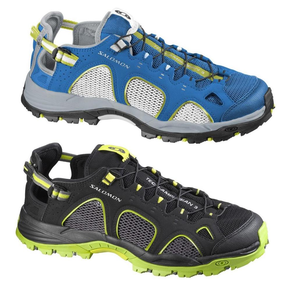 8880899bf0d Das Bild wird geladen Salomon-Techamphibian-3-Herren-Schuhe-Sandalen -Wandersandalen-Blau-