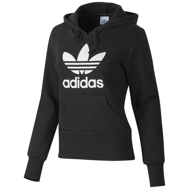adidas originals trefoil hoodie damen kapuzenpullover. Black Bedroom Furniture Sets. Home Design Ideas