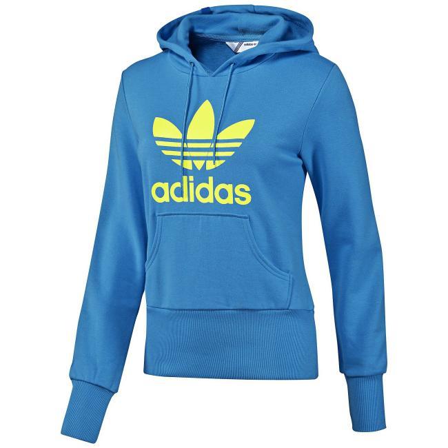 details zu adidas trefoil hoodie blau t rkis damen. Black Bedroom Furniture Sets. Home Design Ideas