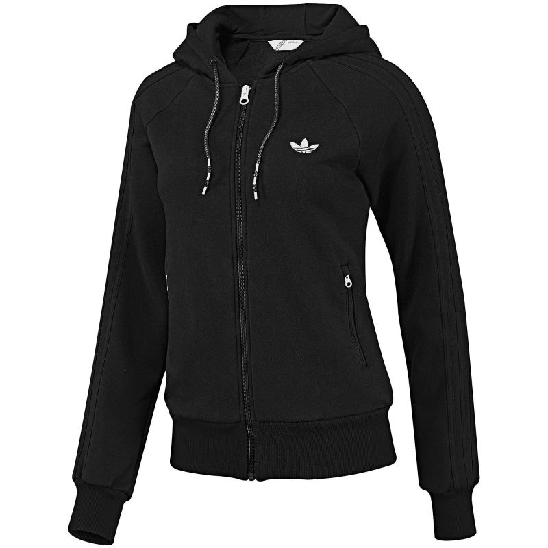 Adidas Fleece Zip Hoodie Women Black