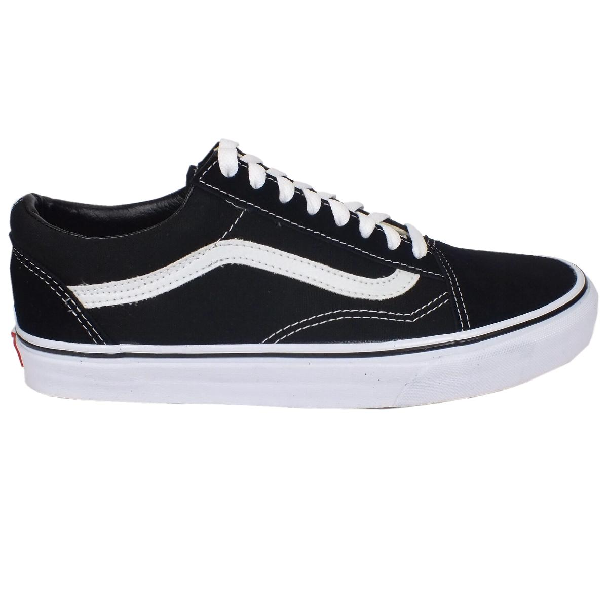 vans old skool sneaker schuhe blau schwarz wei ebay. Black Bedroom Furniture Sets. Home Design Ideas