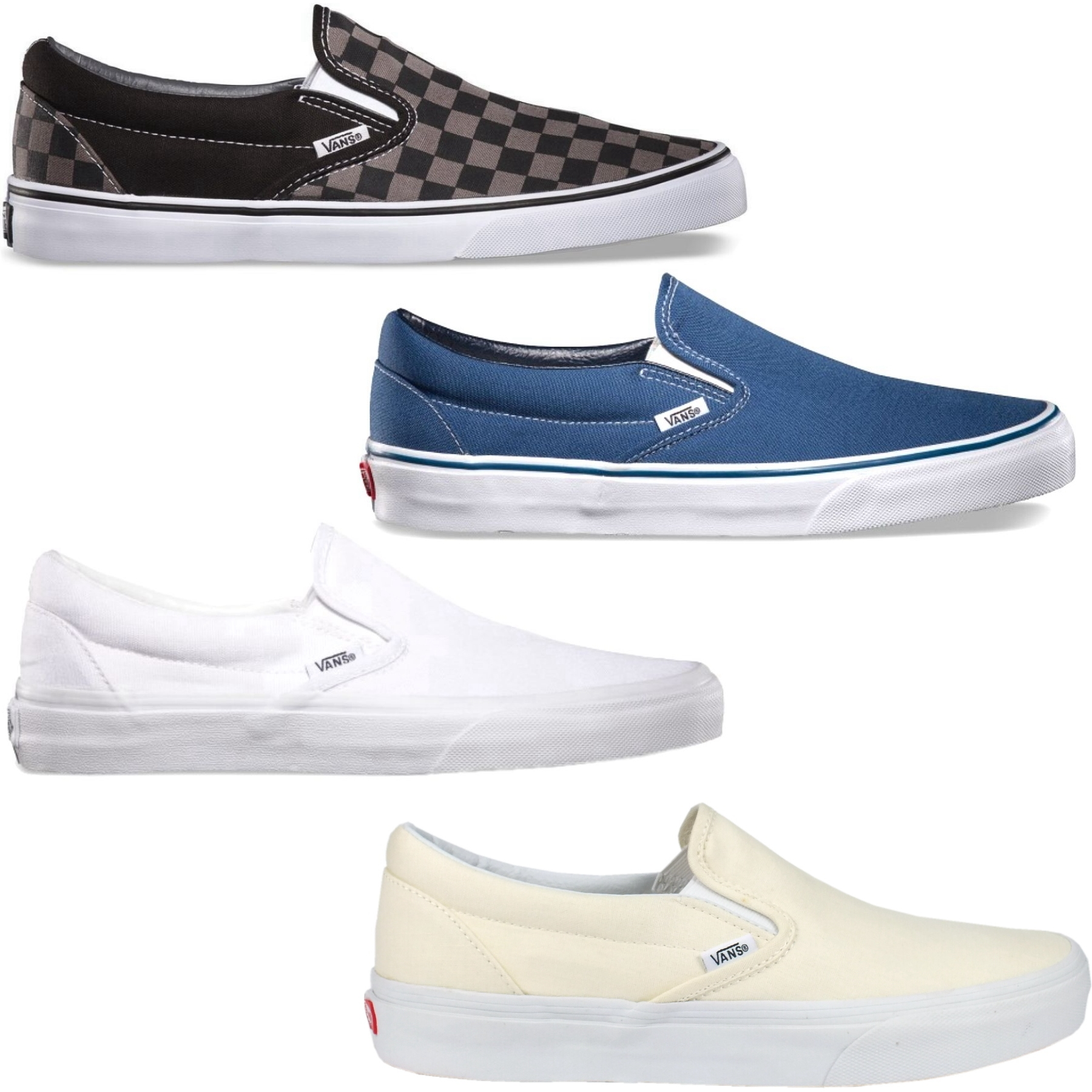 vans classic slip ons damen herren schuhe sneakers freizeitschuhe kariert ebay. Black Bedroom Furniture Sets. Home Design Ideas