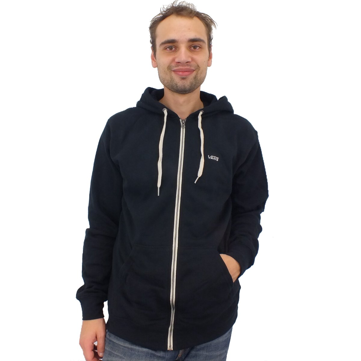 vans core basic zip hoodie herren jacke kapuzenjacke sweatshirt diverse farben ebay. Black Bedroom Furniture Sets. Home Design Ideas