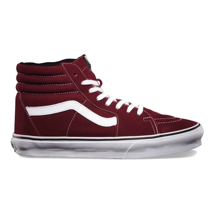 vans sk8 hi high top sneaker schuhe turnschuhe damen herren schwarz rot ebay. Black Bedroom Furniture Sets. Home Design Ideas
