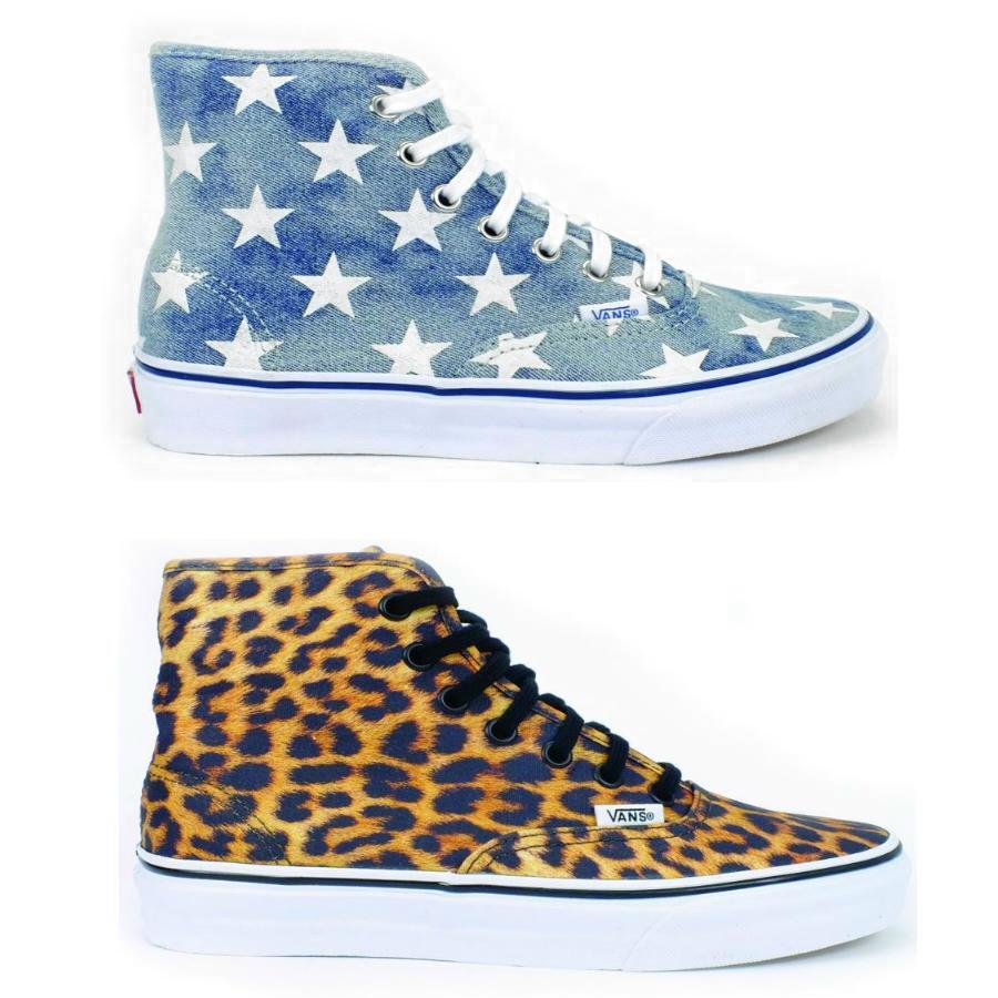 vans authentic hi leopard denim damen schuhe sneaker high. Black Bedroom Furniture Sets. Home Design Ideas