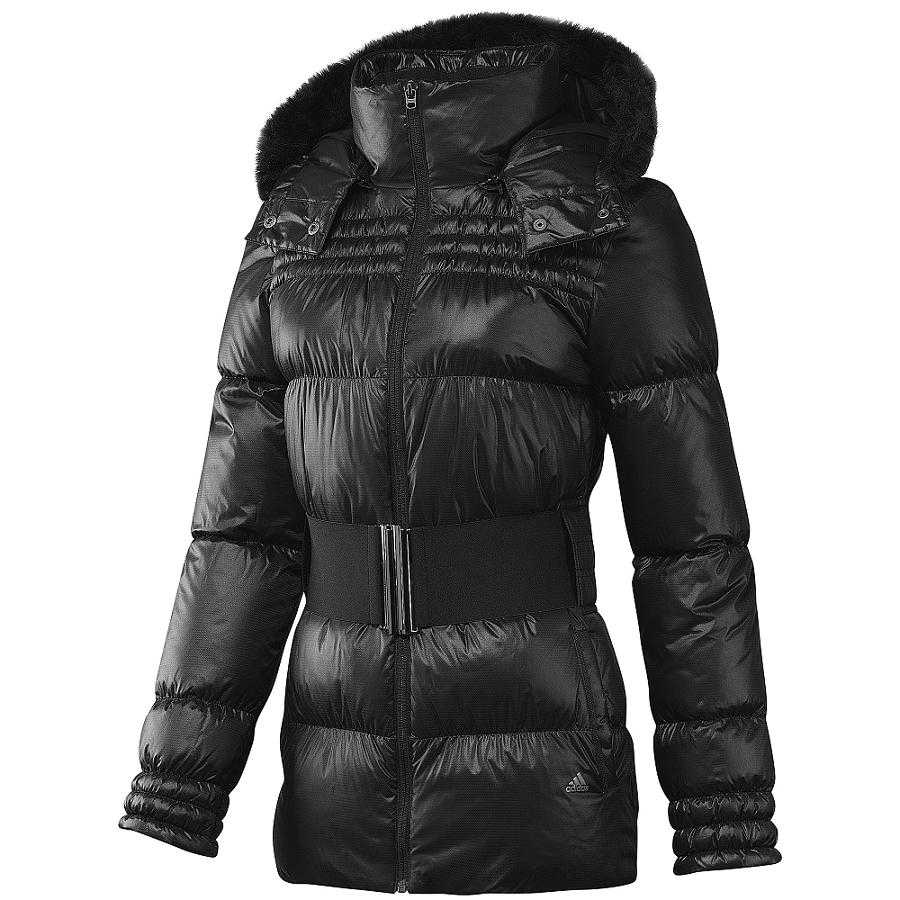adidas light long down jacket black winterjacke. Black Bedroom Furniture Sets. Home Design Ideas