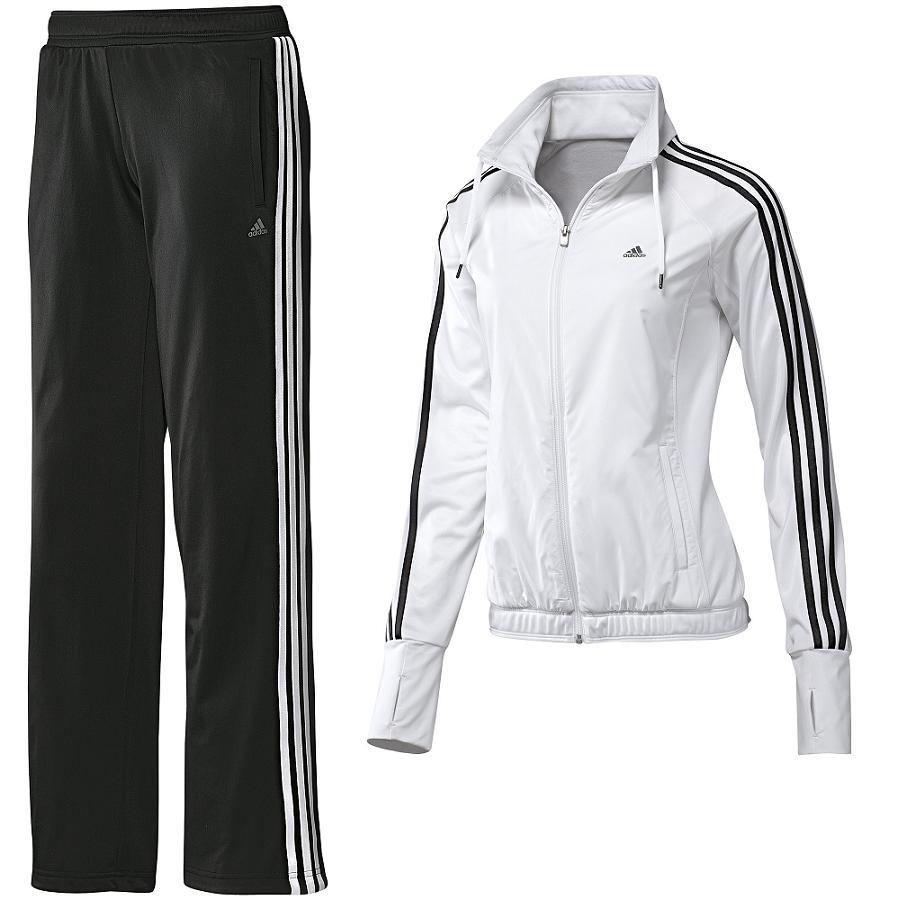 about adidas clima knit suit trainingsanzug damen wei schwarz. Black Bedroom Furniture Sets. Home Design Ideas