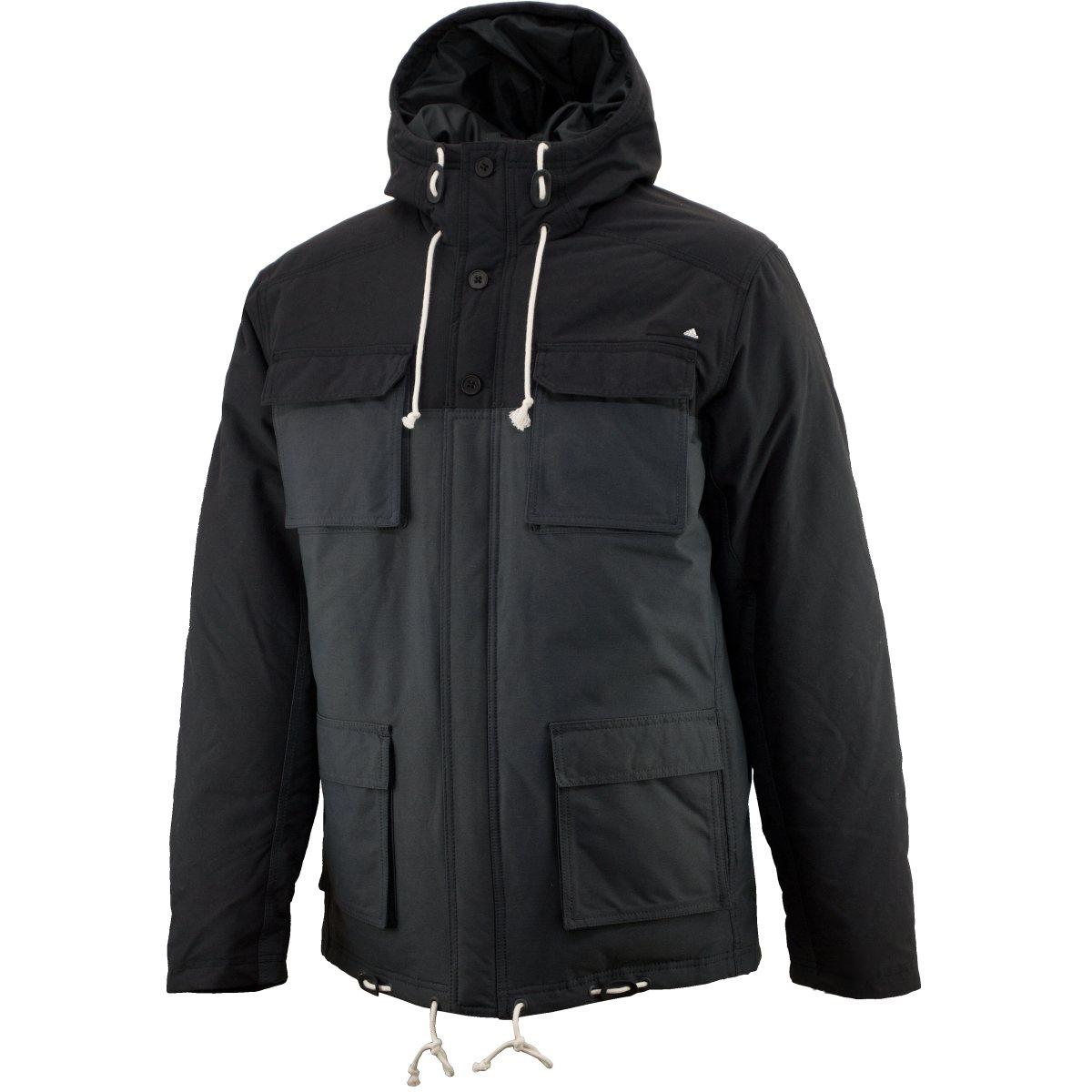 adidas cargo down jacket herren winterjacke parka grau ebay. Black Bedroom Furniture Sets. Home Design Ideas