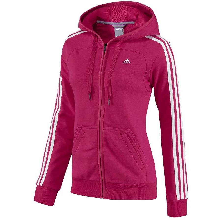 adidas essentials 3s fz hoody pink sweatjacke damen ebay. Black Bedroom Furniture Sets. Home Design Ideas
