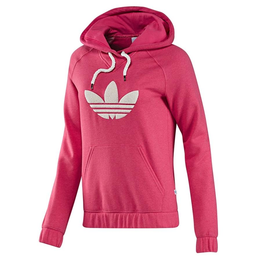 adidas originals college fleece hoodie pink damen pullover. Black Bedroom Furniture Sets. Home Design Ideas