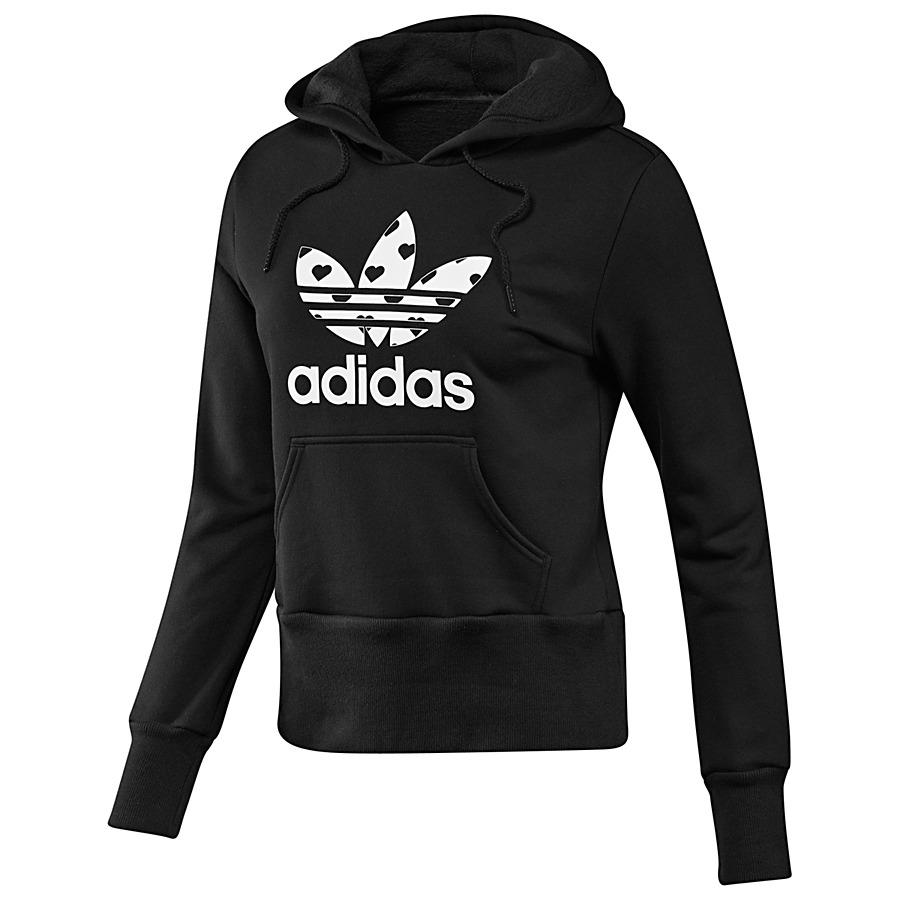 adidas originals trefoil hoodie pullover sweatshirt women various. Black Bedroom Furniture Sets. Home Design Ideas