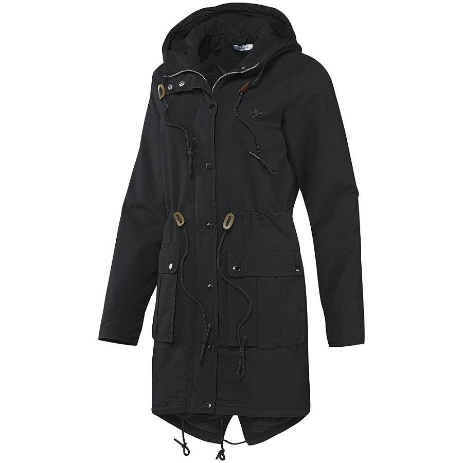 adidas originals woven parka black jacke damen winterjacke. Black Bedroom Furniture Sets. Home Design Ideas