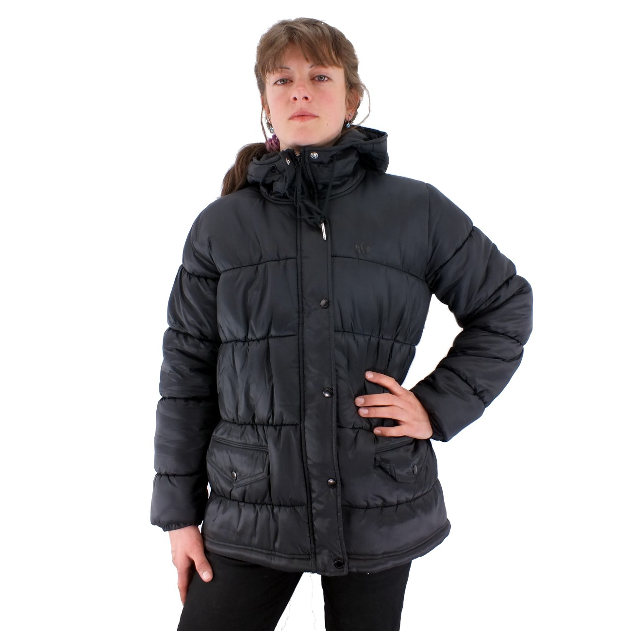adidas originals padded parka damen winterjacke schwarz. Black Bedroom Furniture Sets. Home Design Ideas