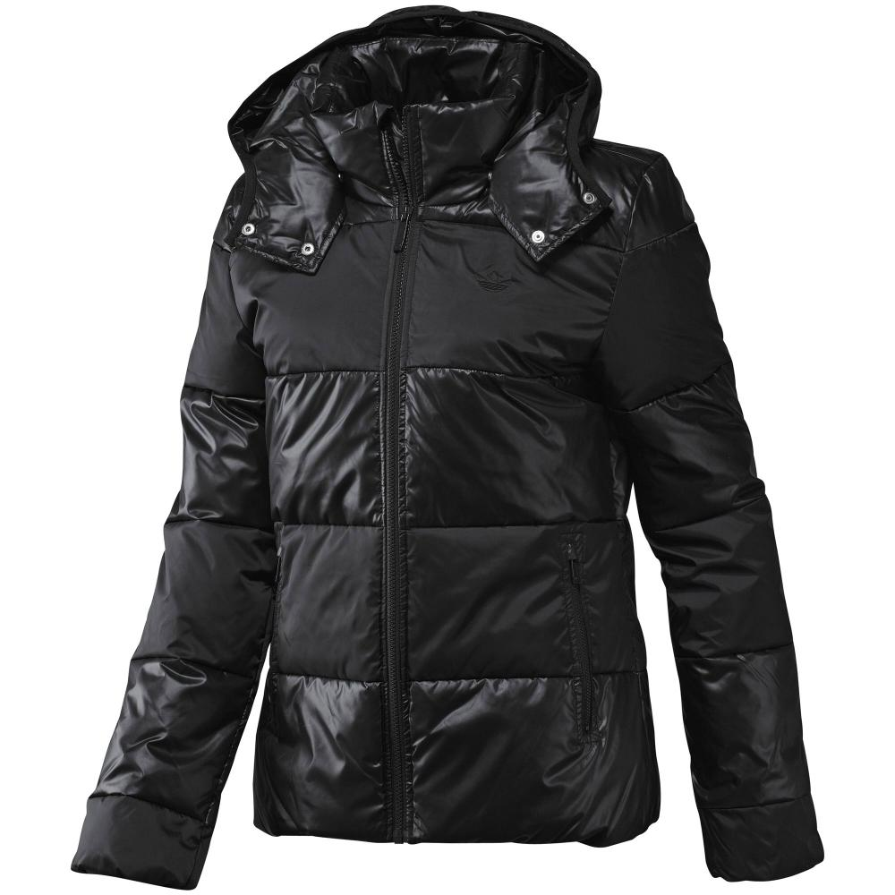 SHORT BELTED PADDED COAT - Winterjacke - black. CHF Topshop.