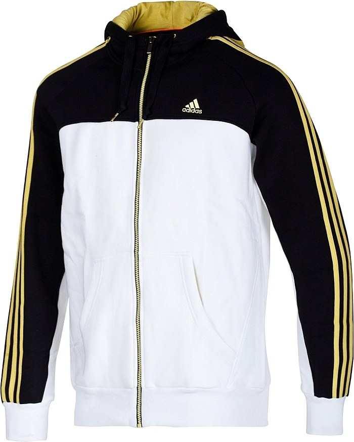 adidas ess 3s fz hood jacket herren jacke baumwolle. Black Bedroom Furniture Sets. Home Design Ideas