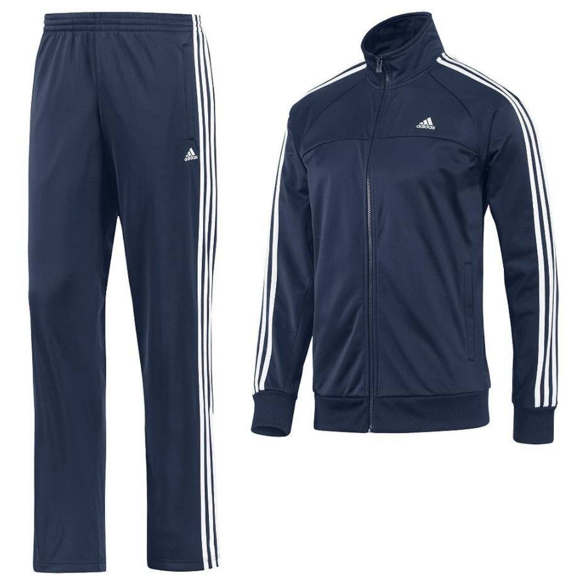 adidas essentials 3 stripes track suit herren trainingsanzug jogginganzug ebay. Black Bedroom Furniture Sets. Home Design Ideas
