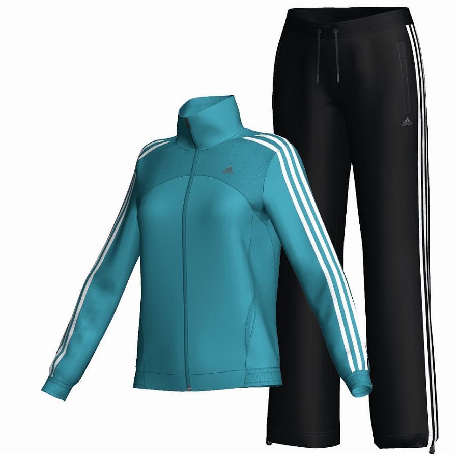 adidas cool training knit suit blau schwarz damen. Black Bedroom Furniture Sets. Home Design Ideas