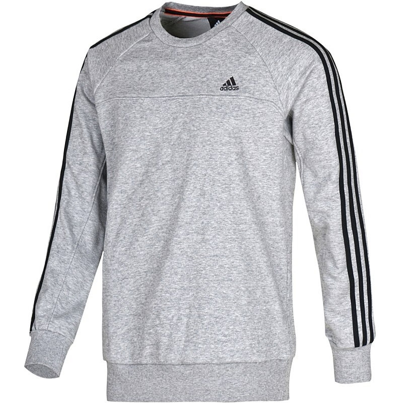 adidas ess 3s light crew sweat grau herren pullover sweatshirt ebay. Black Bedroom Furniture Sets. Home Design Ideas