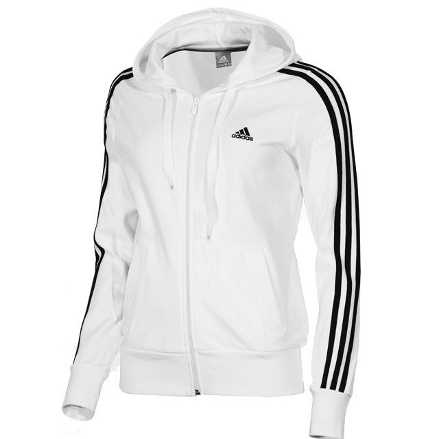 adidas ess 3s hooded jacket damen jacke sportjacke. Black Bedroom Furniture Sets. Home Design Ideas