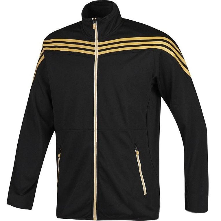 adidas sf 3ss track top herren jacke sportjacke trainingsjacke schwarz gold ebay. Black Bedroom Furniture Sets. Home Design Ideas