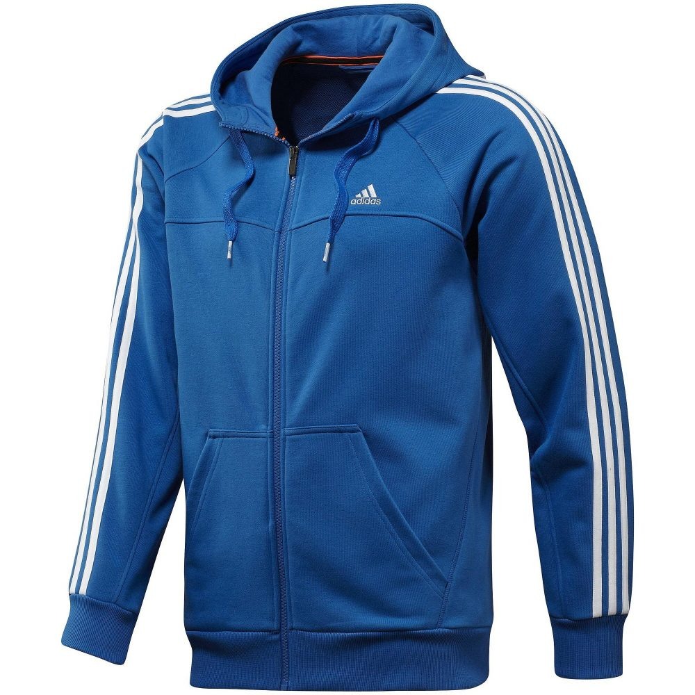 adidas ess 3s light fz hood blau herren pullover sweatshirt kapuzenpullover ebay. Black Bedroom Furniture Sets. Home Design Ideas