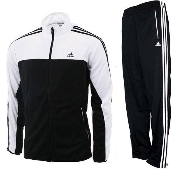 adidas iconic knit tracksuit schwarz wei herren. Black Bedroom Furniture Sets. Home Design Ideas