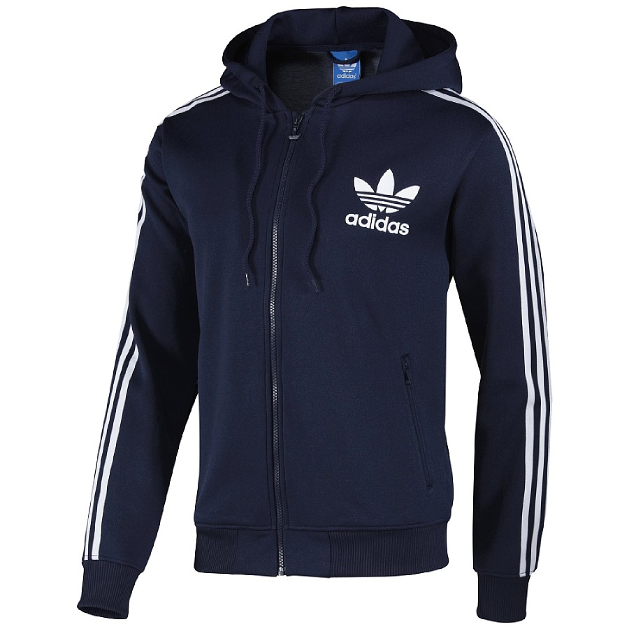 adidas originals hooded flock tt tracktop jacke kapuzenjacke sweatjacke herren ebay. Black Bedroom Furniture Sets. Home Design Ideas