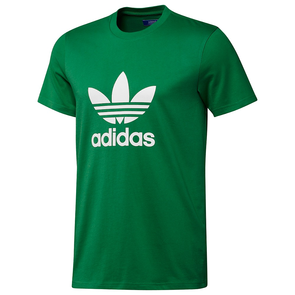 adidas originals trefoil tee herren t shirt gr n schwarz. Black Bedroom Furniture Sets. Home Design Ideas