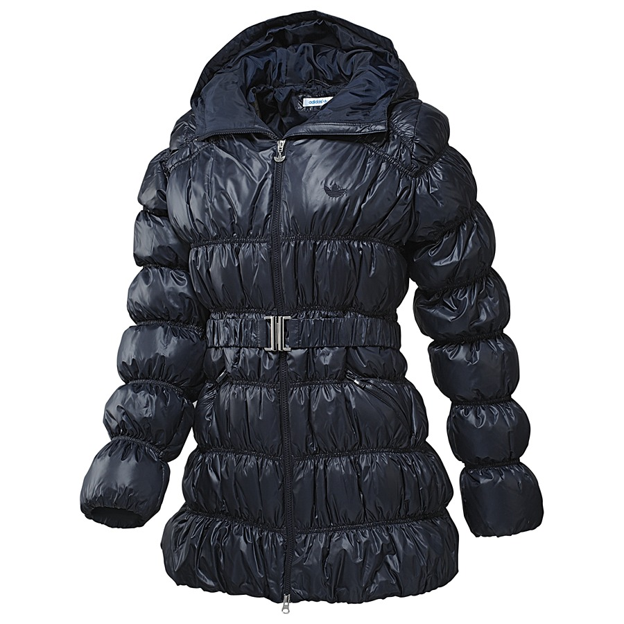 adidas long down jacket dark navy damen winterjacke. Black Bedroom Furniture Sets. Home Design Ideas