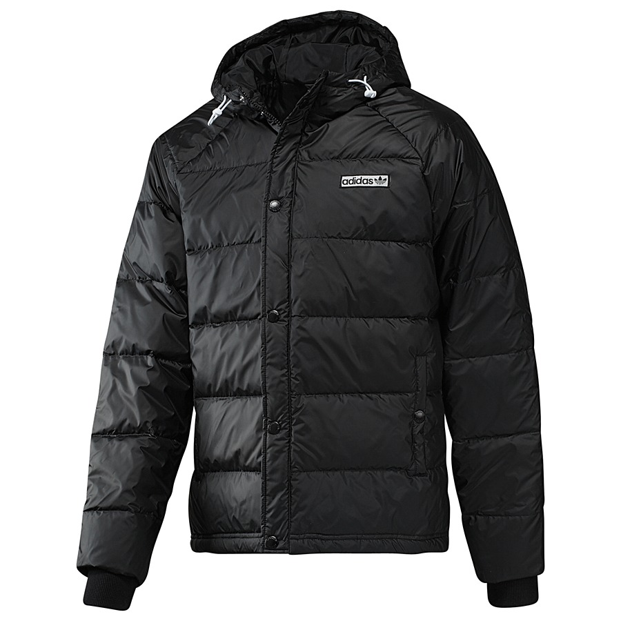 adidas originals hooded down jacket herren daunenjacke winterjacke jacke black ebay. Black Bedroom Furniture Sets. Home Design Ideas