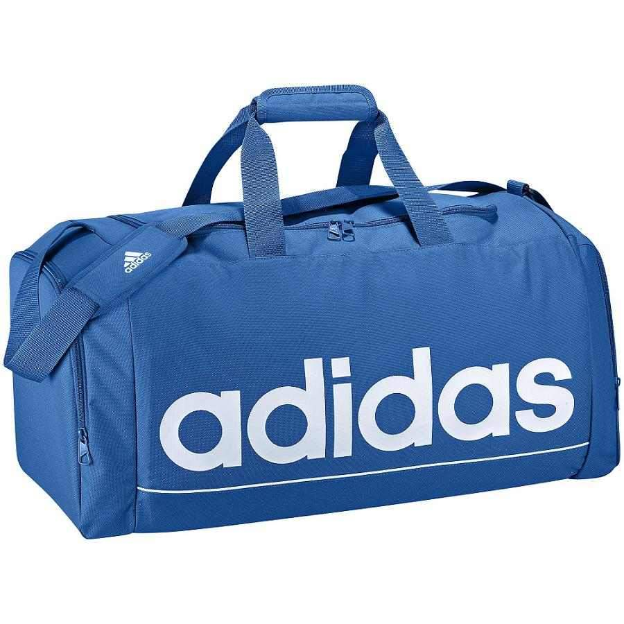 adidas linear essentials team bag gr e m blau damen. Black Bedroom Furniture Sets. Home Design Ideas