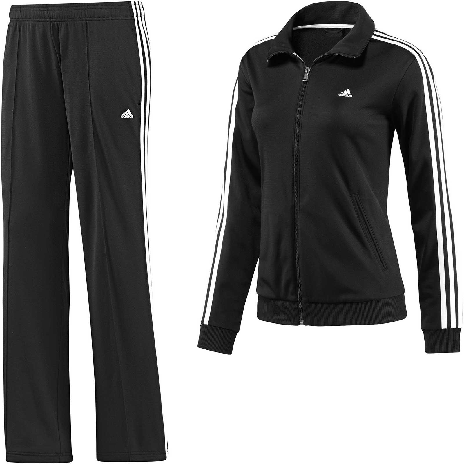 adidas diana suit trainingsanzug damen schwarz sportanzug ebay. Black Bedroom Furniture Sets. Home Design Ideas