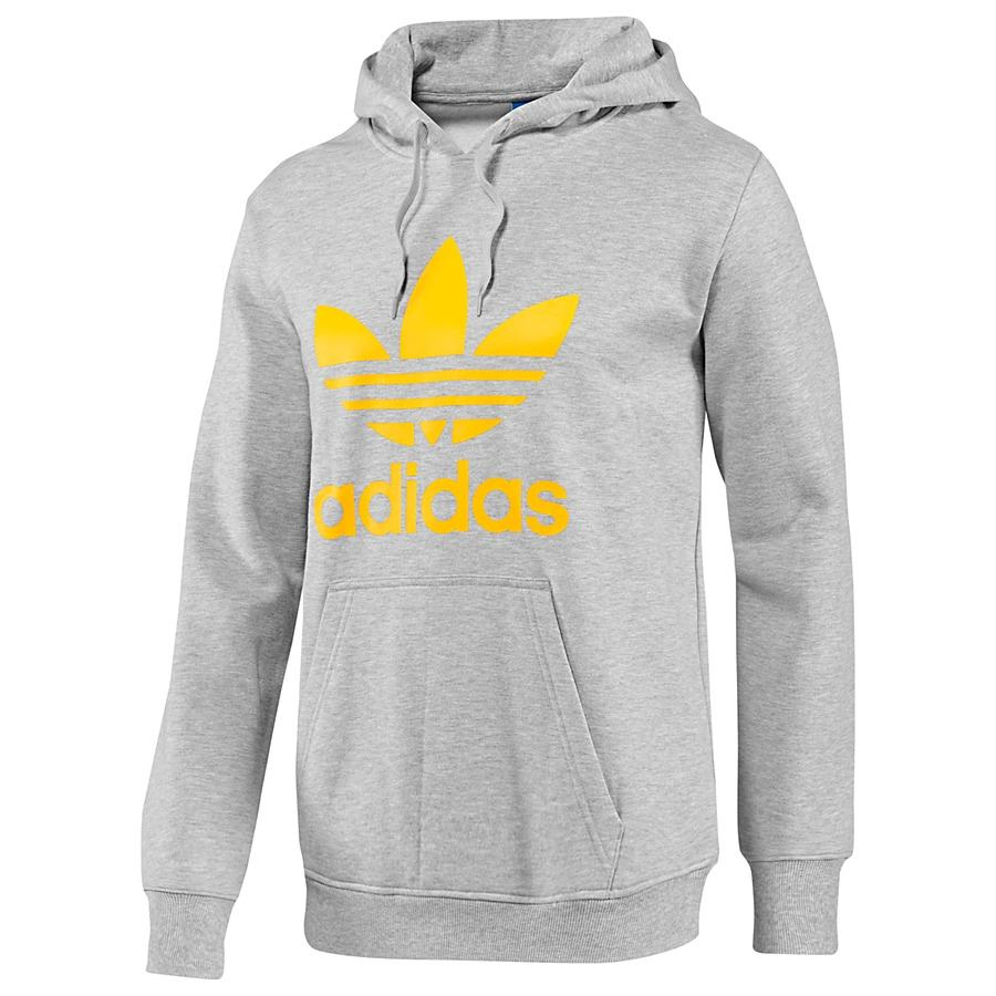adidas originals trefoil kapuzen top grau herren pullover kapuzenpullover sweats ebay. Black Bedroom Furniture Sets. Home Design Ideas