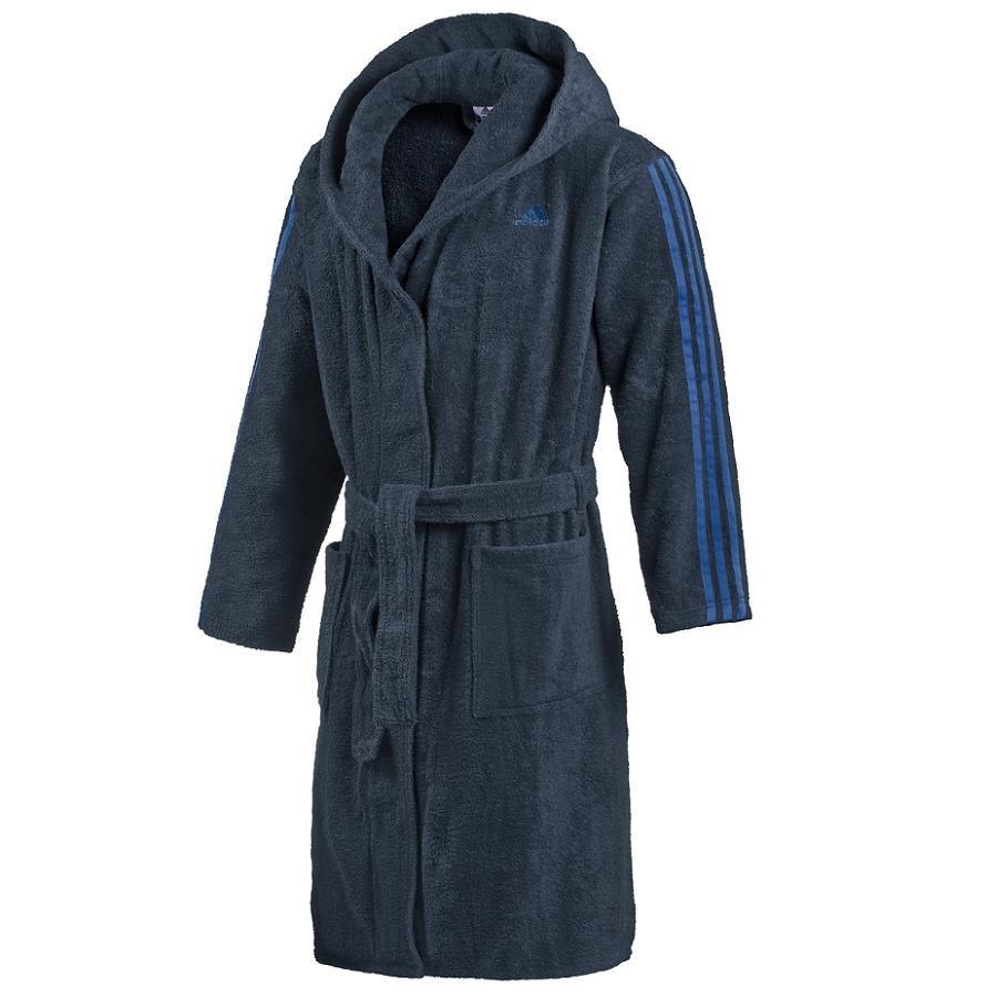 adidas bathrobe dunkelblau herren bademantel kapuzenbademantel ebay. Black Bedroom Furniture Sets. Home Design Ideas