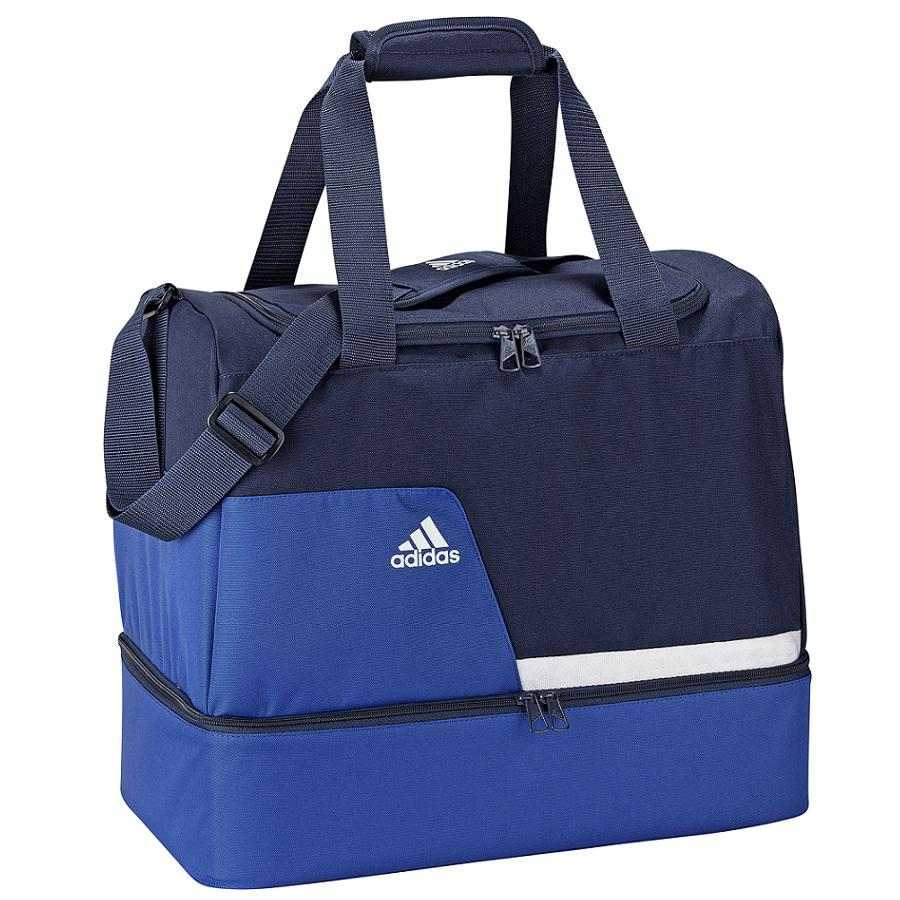 adidas tiro13 teambag mit bodenfach s blau damen herren. Black Bedroom Furniture Sets. Home Design Ideas