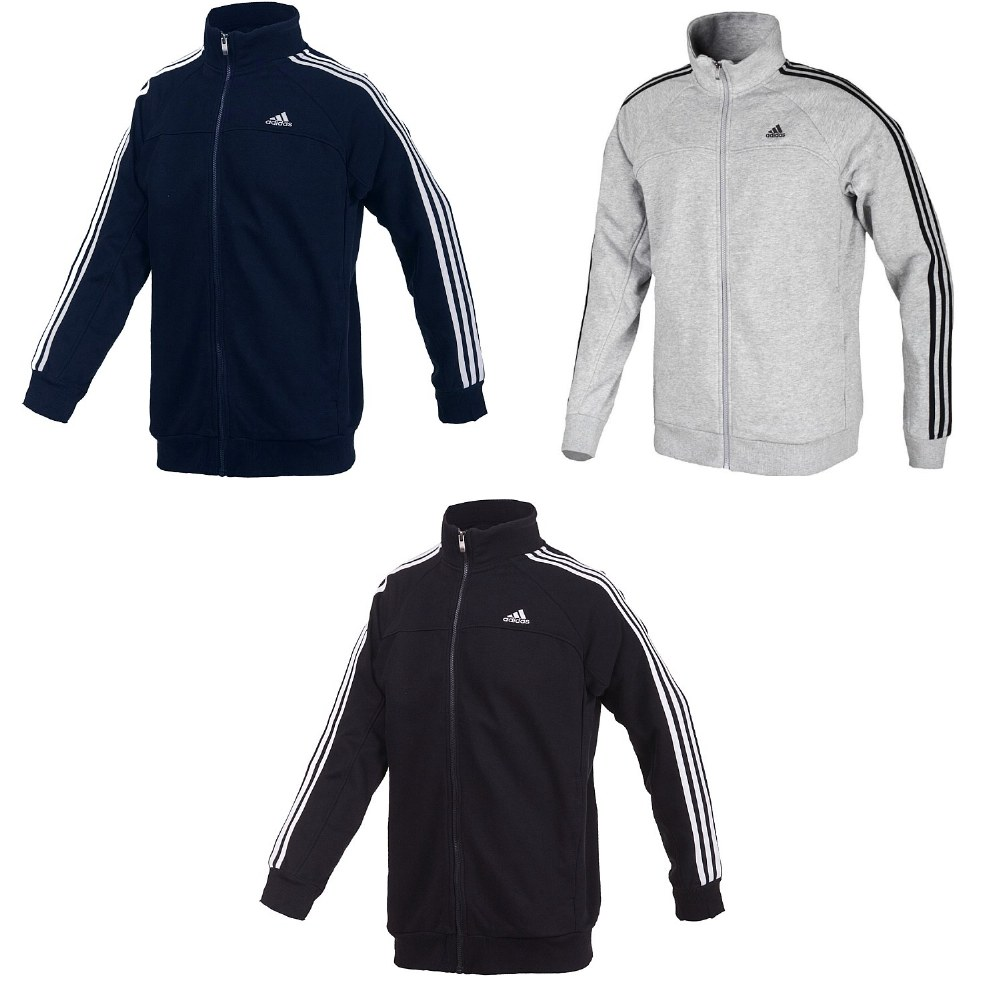 adidas ess 3s light sweat tracktop trainingsjacke herren. Black Bedroom Furniture Sets. Home Design Ideas