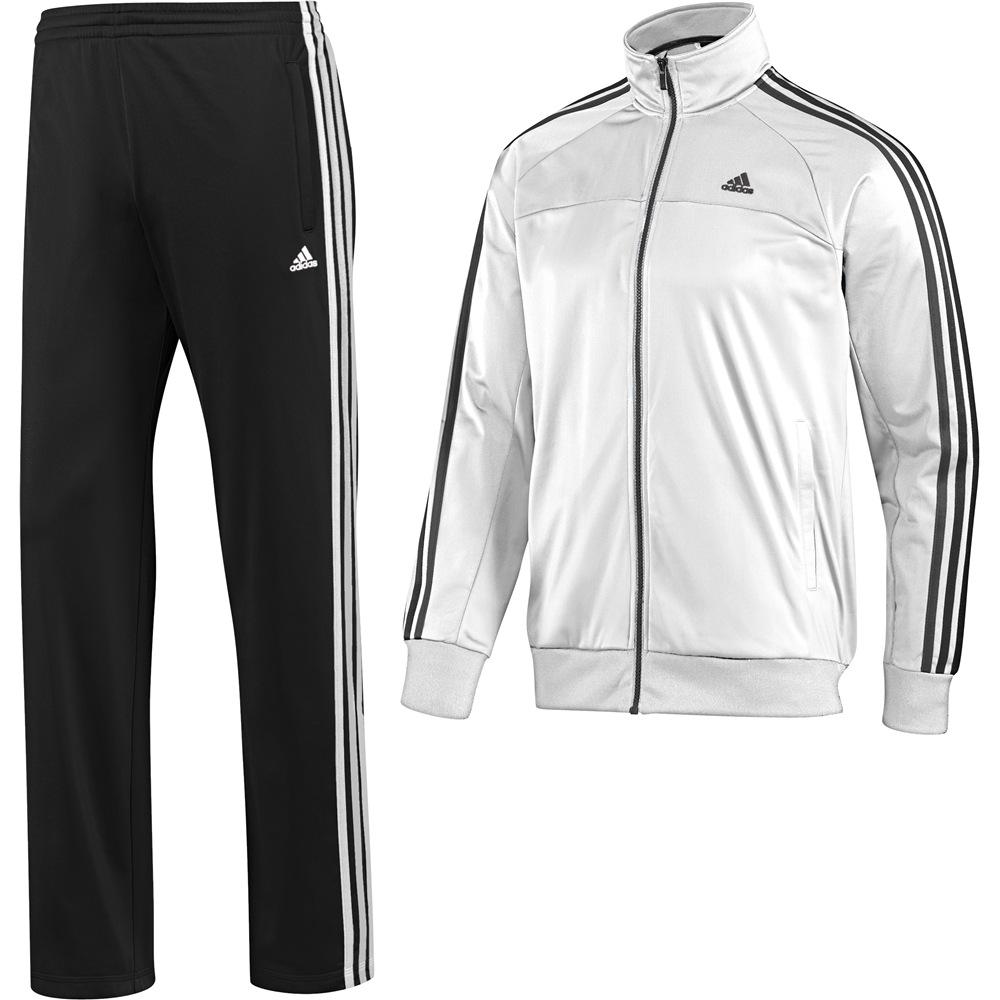 Adidas Trainingsanzug Schwarz Weiß. adidas ess 3s pes tracksuit ...