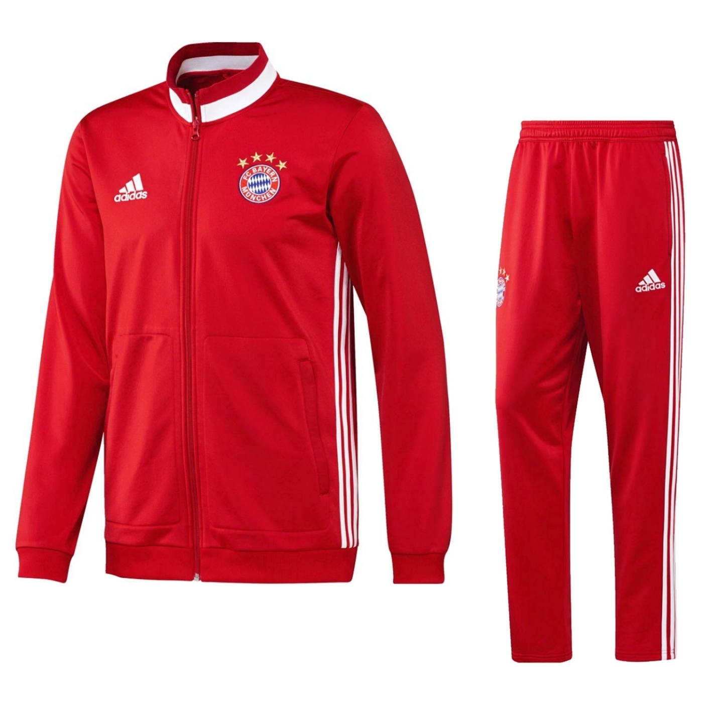 adidas fc bayern m nchen trainingsanzug polyester suit fcb. Black Bedroom Furniture Sets. Home Design Ideas
