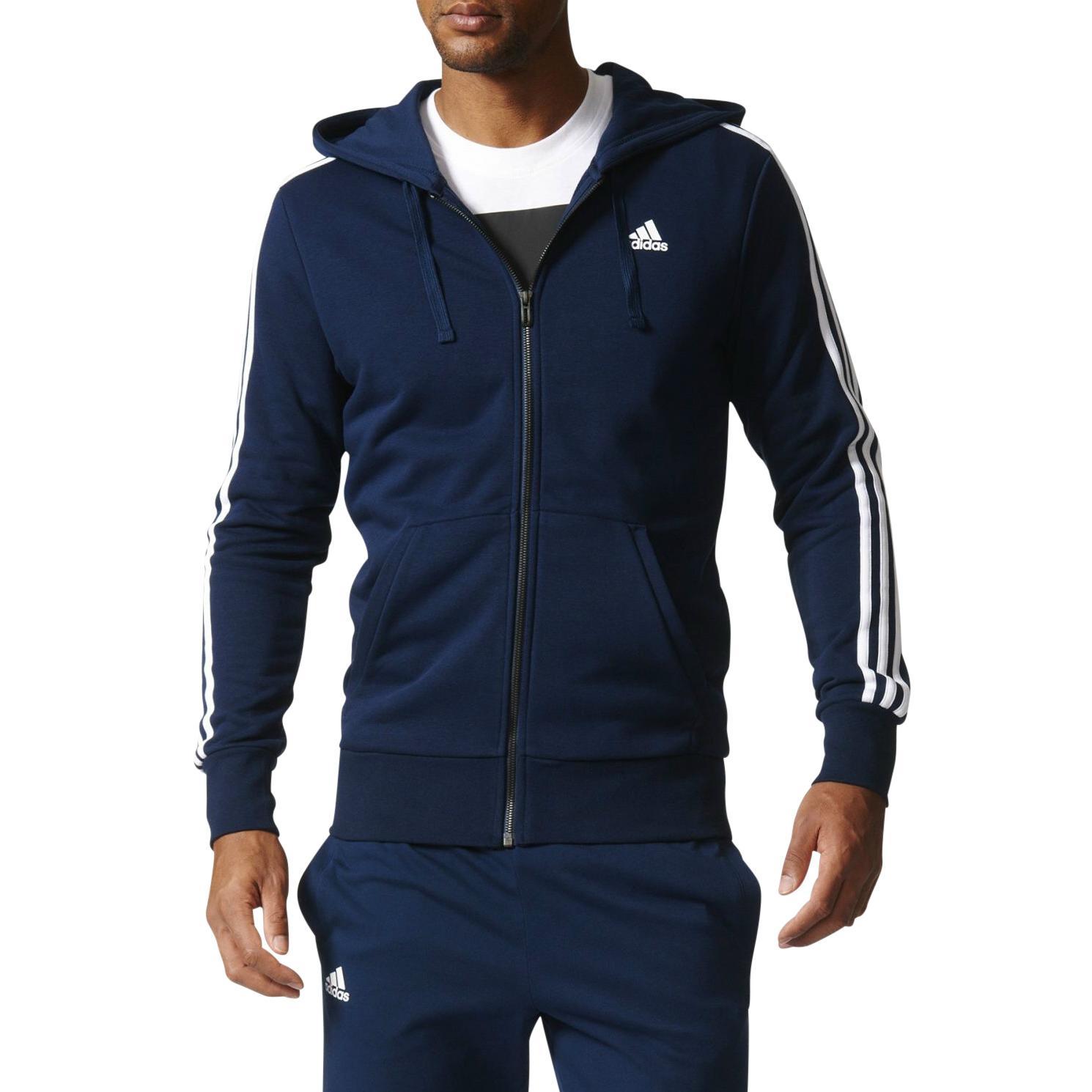 adidas essentials 3s hoodie jacke kapuzenjacke sweatjacke. Black Bedroom Furniture Sets. Home Design Ideas