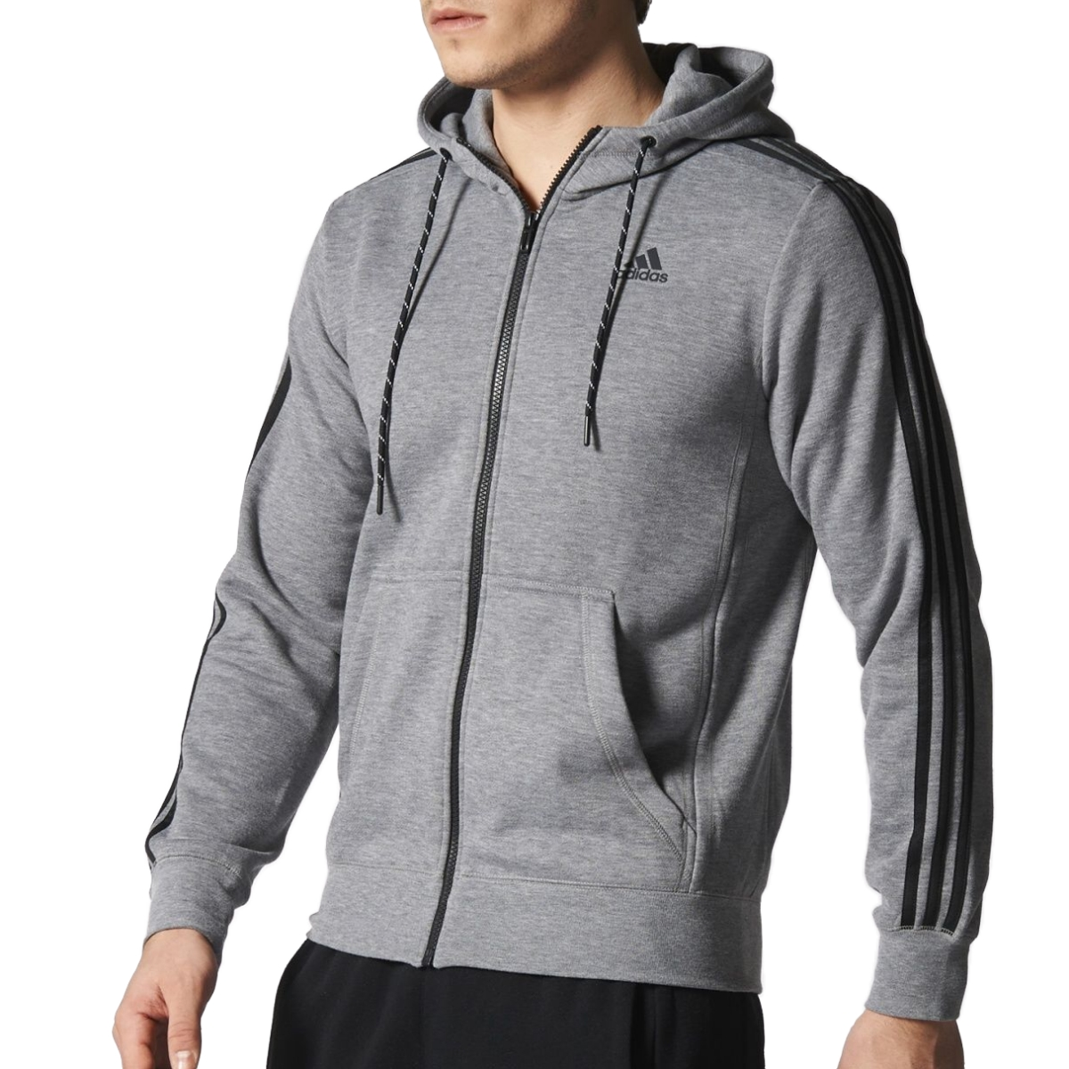 adidas essentials 3s hoodie jacke kapuzenjacke sweatjacke. Black Bedroom Furniture Sets. Home Design Ideas